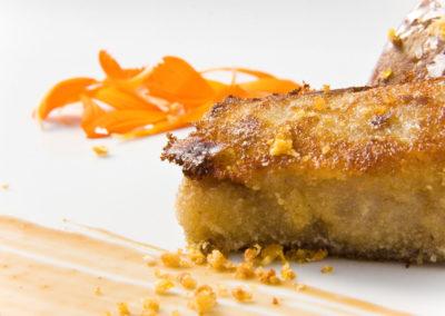 Manitas de cerdo con foie fresco y reducción de Pedro Ximénez